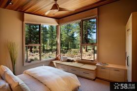 别墅卧室飘窗设计装修效果图