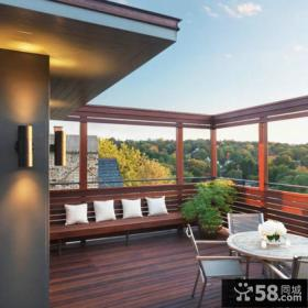 美式风格阳台图片大全欣赏