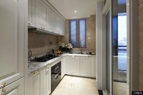 小户型公寓厨房整体橱柜装修效果图