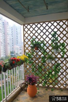 家庭阳台护栏隔断效果图