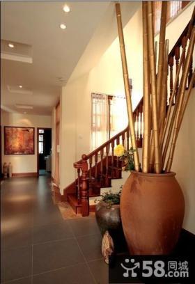中式风格复式楼梯装修效果图