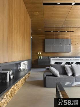 110平米简约家居复式楼房效果图欣赏