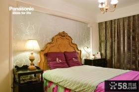卧室装修床头壁纸背景墙效果图