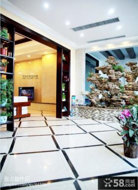 中式风格阳台地板砖设计