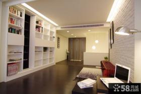 优质简约风格复式书房家居装饰设计图片