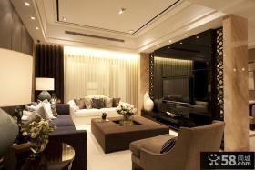 现代家装小户型客厅电视背景墙效果图