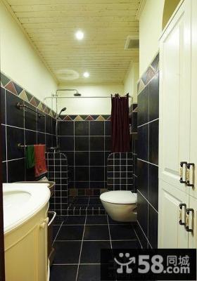 长方形卫生间瓷砖效果图
