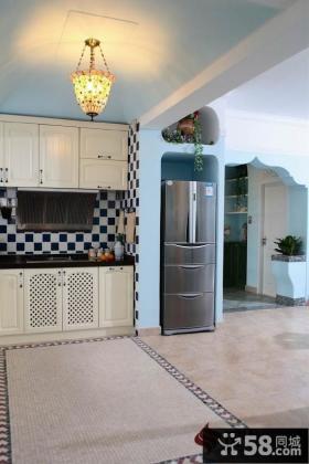 小户型地中海风格厨房装修图