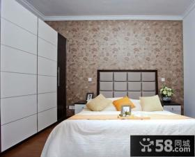 卧室床头壁纸背景墙设计效果图