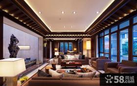 别墅中式家装效果图客厅图片