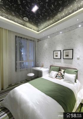 2013现代风格卧室床头壁纸背景墙装修效果图