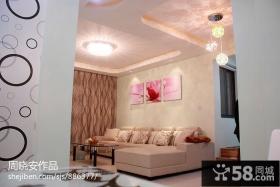 小户型客厅沙发背景墙效果图大全