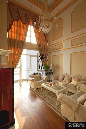 欧式风格别墅客厅装修效果图2013