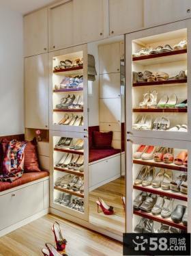 鞋柜穿衣镜图片