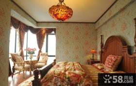 欧式田园风格卧室设计图