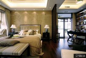 中式风格卧室壁纸背景墙效果图