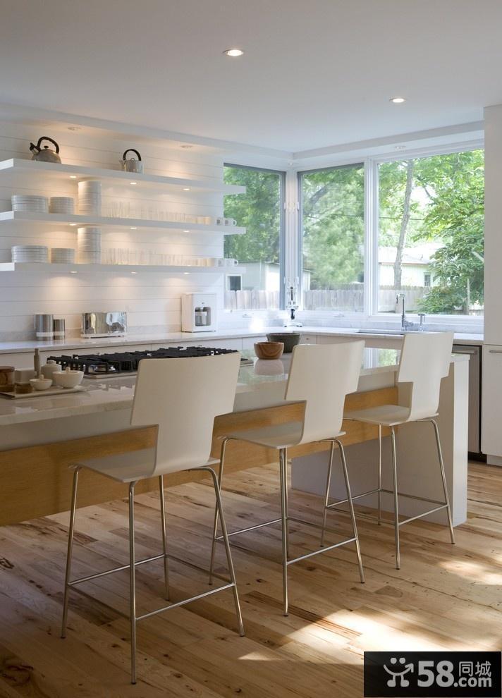 简约风格开放式厨房餐厅装修一体
