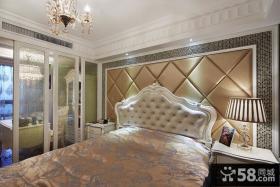 主卧室装修床头软包背景墙效果图