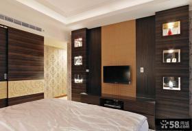 现代风格卧室背景修效果图