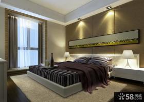 现代简欧装修风格卧室背景墙图片