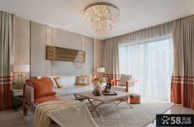 时尚美式家居装修风格二居室设计效果图