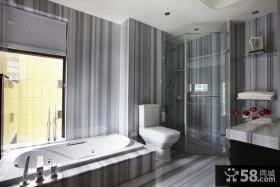 现代别墅室内卫生间装饰效果图
