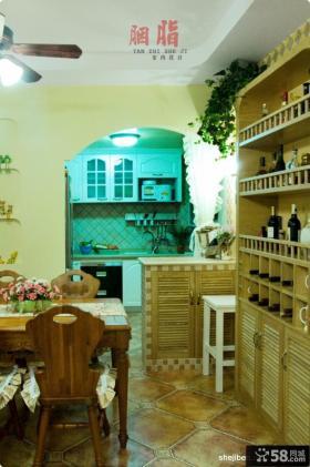 美式乡村风格70平米小户型厨房装修效果图