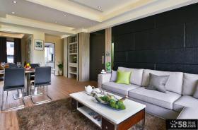 现代风格装修两室一厅一卫户型设计效果图
