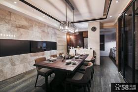 经典现代风格室内餐厅吊顶设计效果图
