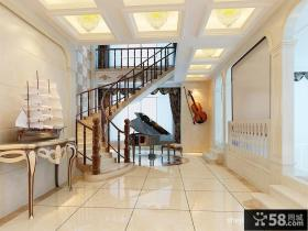欧式复式楼天花板装修设计效果图