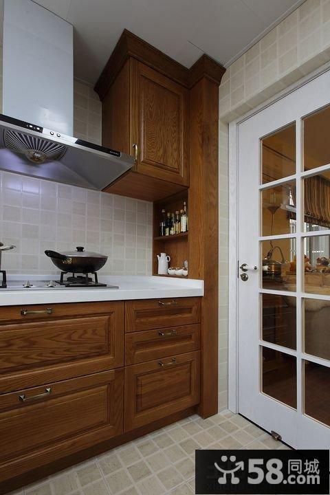 美式厨房门装修图片