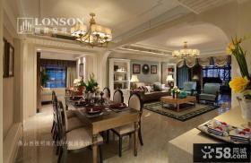 美式风格样板房餐厅装修效果图