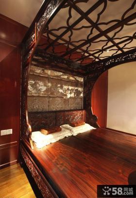 中式古典装修家庭卧室图片