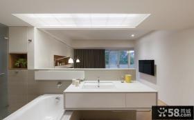 台湾现代简约风格浴室设计