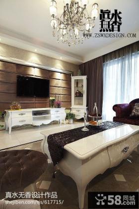 新古典客厅电视背景墙效果图欣赏