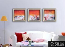 小户型客厅抽象画图片欣赏