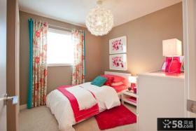 小户型简约风格婚房卧室装修效果图大全2012图片 卧室窗帘图片