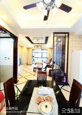 中式餐厅石膏板吊顶设计