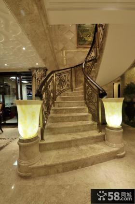 美式别墅楼梯装修图片大全