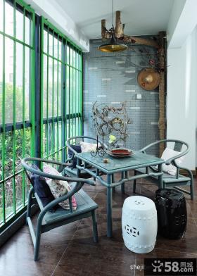 50平米小户型封闭式阳台装修案例