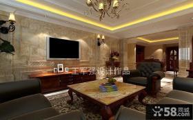 新古典客厅电视背景墙装修效果图