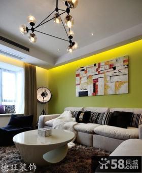现代风格客厅沙发背景墙装修样板间