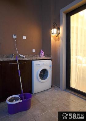 阳台洗衣机装修效果图片