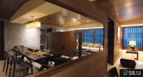 中式风格餐厅隔断墙设计图片