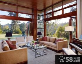 现代小清新的美式风格装修休闲区图片