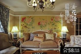 客厅沙发背景墙效果图2014