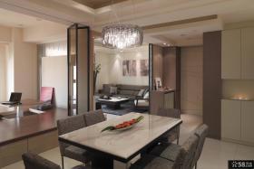 现代简装三房两厅装修效果图