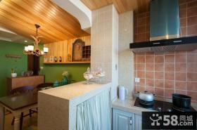 厨房吧台隔断设计效果图