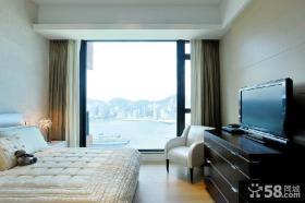 美式风格卧室电视背景墙图片欣赏