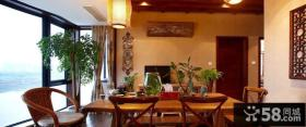 休闲中式原木餐厅设计